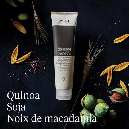 Aveda, produits pour cheveux au quinoa et soja