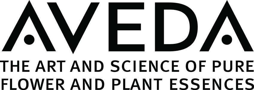 Logo Aveda, typographie noire