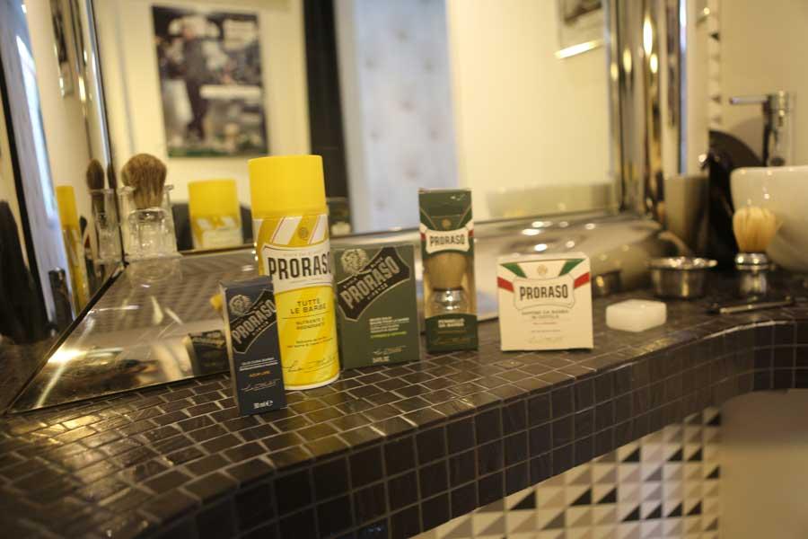 barbier en Vendée, gamme de 5 produits proraso